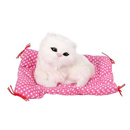 Zetiling Animales de Peluche Gatos, Gatito de Peluche de Juguete, 1 Pieza de Animal de Peluche Súper Lindo Mini Simulación Que Suena Gatito Sentado Gatos Juguetes de Peluche Muñeca (2#)