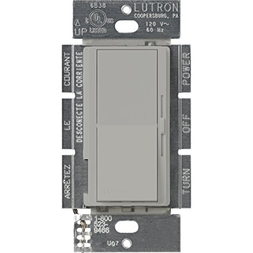 Lutron DVFSQ-F-GR Diva 1.5 A 3-Way/Single Pole 3-Speed Fan Control, Gray