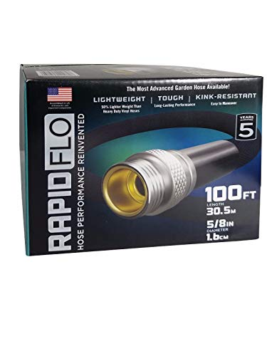 Rapid Flo Light Weight Tough Kink-Resistant Garden Hose 5/8 in 100 ft