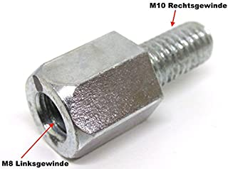 Spiegeladapter Spiegel Adapter   M8 Linksgewinde auf M10 Rechtsgewinde Roller Motorrad Mofa Moped Mokick Quad Universal