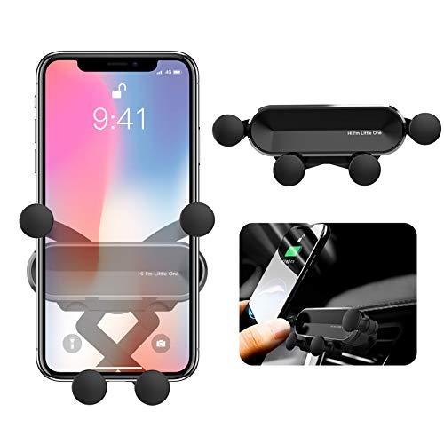 ORYCOOL BellFan Handyhalterung für Auto, Schwerkraft Auto Handyhalterung Air Vent Universal-Kfz-Handyhalter kompatibel für iPhone XS MAX/XS/XR, Galaxy S10/S10+ (für 4,7'' - 6,5'') (Schwarz)