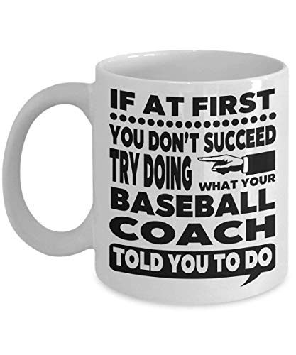 N\A Entrenador de béisbol Regalos de Entrenamiento de béisbol Taza de Entrenador de béisbol Taza de Entrenador de béisbol Béisbol