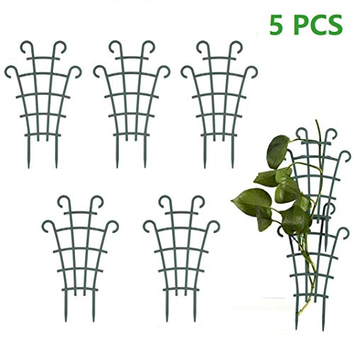 meacom 5 Stück Garten Pflanzenstütze Rankhilfe, Blumenstütze Gitterspalier Topfpflanzen Rankgitter Pflanzkübel Pflanzenkäfige (Ohne Zubehör)