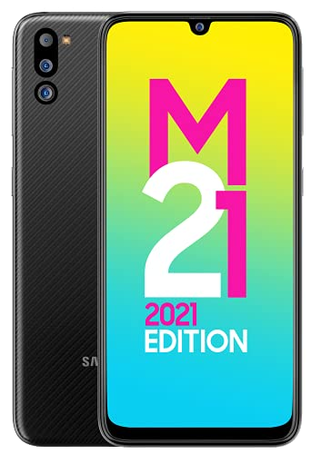 Samsung Galaxy M21 2021 Edition (Charcoal black , 6GB RAM, 128GB Storage) | FHD+ sAMOLED | 6 Months Free Screen Replacement for Prime
