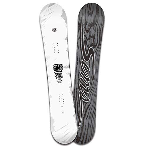 スノーボード 板 メンズ レディース 単品 SIMS シムス BOWL SQUAD WHITE 2020 スノボー 初心者 ハイブリッド キャンバー ボード Wロッカー お洒落 ブランド 白 ホワイト 144cm