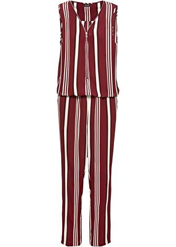 bonprix Bezaubernder Jumpsuit mit Gummibund dunkelrot gestreift 46 für Damen