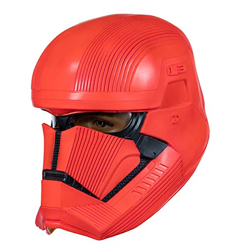 Dealtrade Sith Trooper Casco Red Trooper Máscara de látex Cosplay Disfraz Prop adultos para coleccionar Halloween Carnaval Party Merchandise accesorios