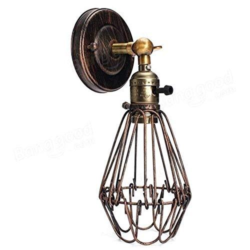 Wandlamp, rustiek, wandlamp, metaaldraad, kooi, binnenverlichting, retro-stijl, verschillende perspectieven