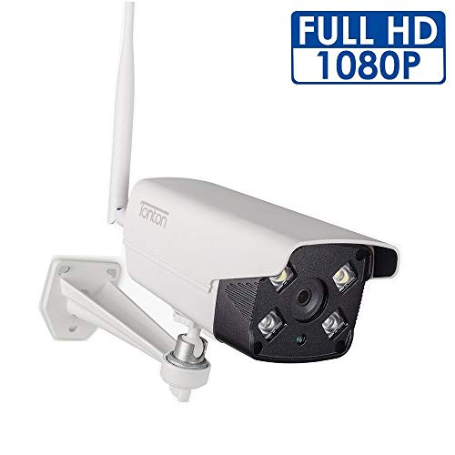 [2019 New] Tonton 1080P Full HD WiFi Outdoor IP Security Bullet Camera,2-Way Audio and Double Light,Waterproof, Motion Detection with Clear Night Vision,Easy Installation Bullet Cameras