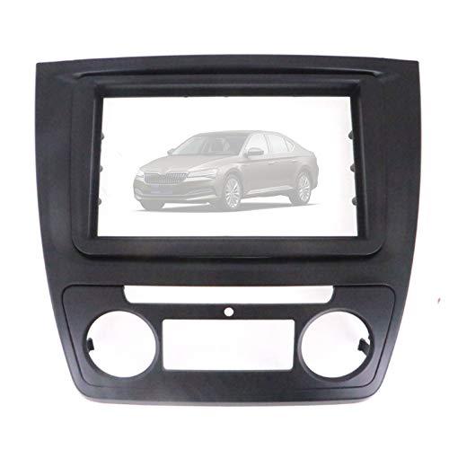 2 DIN Marco de Radio del Coche Compatible con SKO&DA Yeti 2009-2017 Auto Fascia Adaptador Soporte para Placa Panel Estéreo Kit Instalación Tablero Car Montaje,173×98mm