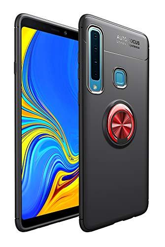SORAKA Cover per Samsung Galaxy A9 2018 con anello,Custodia in Silicone Morbido Cover Anti-Impronta Ultrasottile con piastra metallica per Supporto Auto Smartphone Magnetico