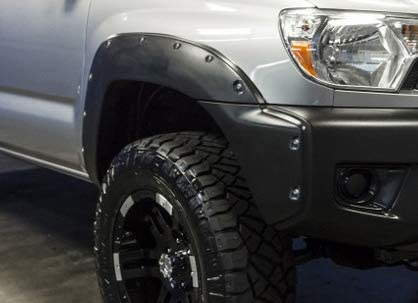 /2013 2014 Pocket Rivet Style PP Bolt On Fender Flares Left Hand Right Hand By IKON MOTORSPORTS Fender Flares Compatible With 2012-2015 Toyota Tacoma