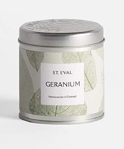 St Eval tuin van Eden Geranium geurende kaars in een blikje