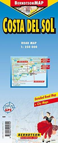 Costa del Sol: 1:250 000 +++ Granada, Málaga, Marbella, Ronda, Time Zones