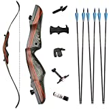 SPG Takedown Recurve Bow Archery for Hunting Targeting Shooting Adults & Youth Right and Left Handed Laminated Wooden Riser 30-50LBS (45LB, Left Hand)