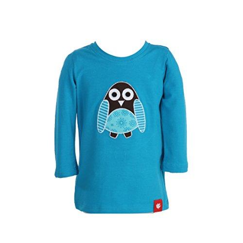 Elli Miracle morceaux bébé T-shirt manches longues fille avec application en belles couleurs hibou Türkis 74