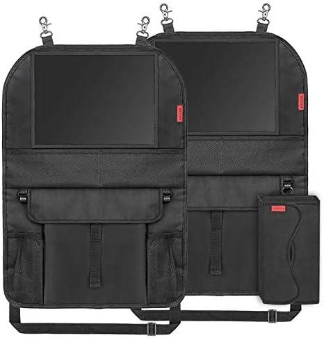 YOOFAN 2 Pack Car Organizer Back Seat with iPad Holder Thick Kick Mats Back Seat Protector Backseat product image