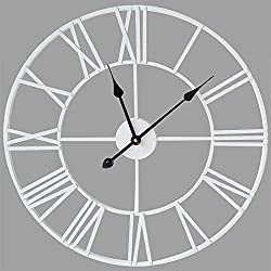 👍Design Features: Stunning classic vintage wall clock can put yourself in the past, the large clock contracted style and rich nostalgic feelings. Round shape make you feel comfortable, when you hang it on the wall, this beautiful wall clock make your...