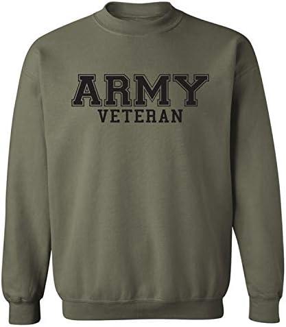 zerogravitee Army Veteran Black Logo Military Style PT Crewneck Sweatshirt Military Green XX product image