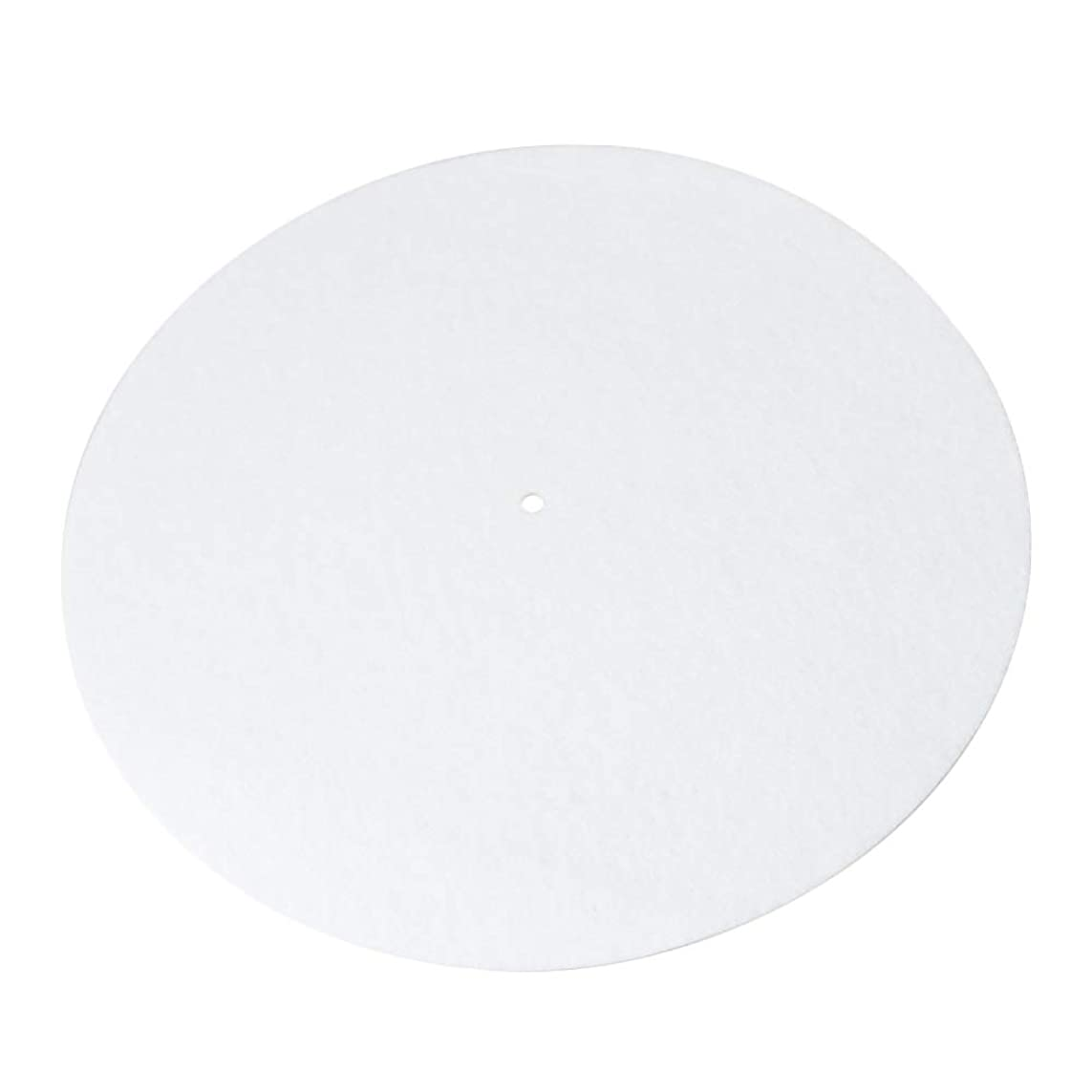 何多様性羨望レコードスリップマットマットパッド 楽器パッド レコード用 30x0.2cm ベルベット製 ホワイト