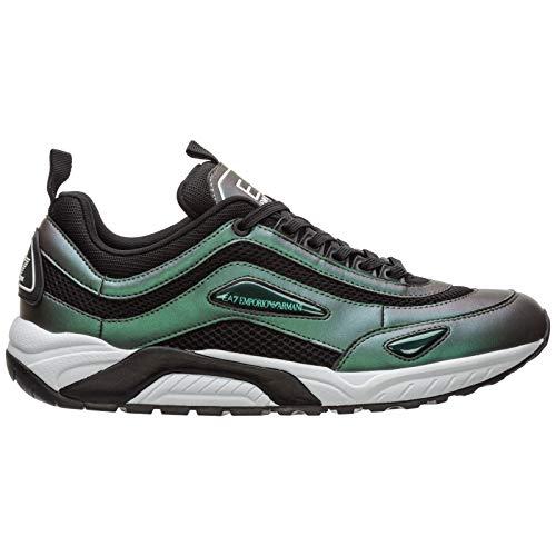 Emporio Armani EA7 Sneakers Herren Grün, Grün - grün - Größe: 43 1/3 EU