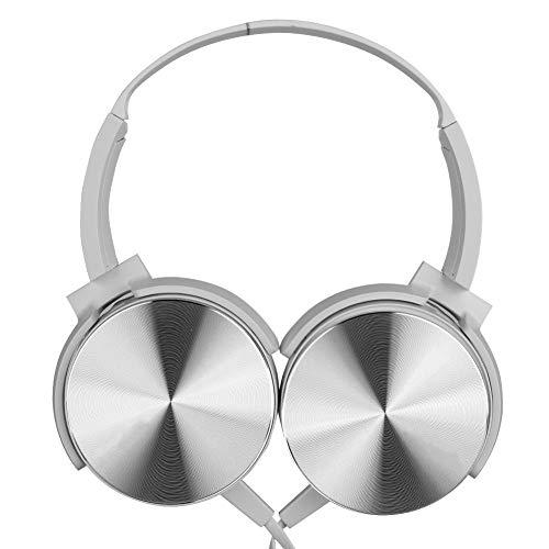 Cuffie DJ, Cuffie Cuffie Interfaccia Universale da 3,5 mm di Alta qualità per MDR XB450AP(Bianca)