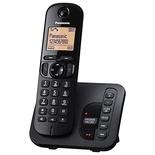 Panasonic KX-TGC220 - Teléfono (Teléfono DECT, Altavoz, 50 entradas, Identificador de Llamadas, Negro) [versión importada]