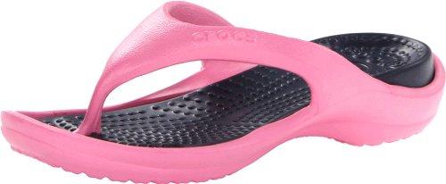 crocs Schuhe - Zehentrenner Athens - pink Lemonade Navy, Größe:41/42 EU