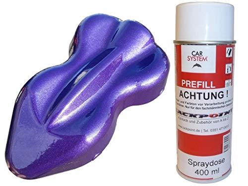 Lackpoint 1 bote de espray de 400 ml, 1 K, pintura para coche, color lila metálico, brillante, no transparente, color lila