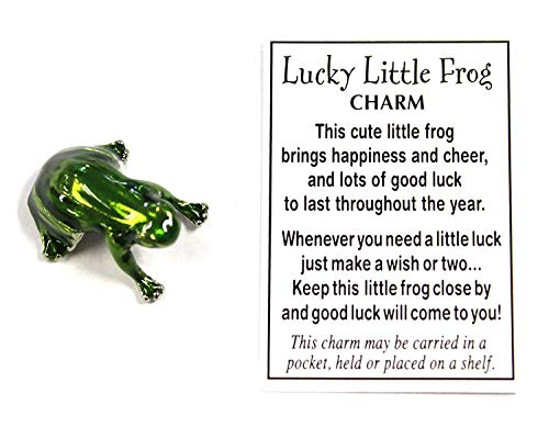 Ganz Lucky Little Frog Charm with Story Card!