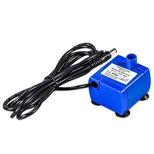 Pompe de Fontaine Chat,Pompe à eau automatique silencieuse, Pompe à Eau Submersibl (capacité 1,6 L, câble de 1,8 m inclus, compatible avec pompe à eau électrique de 12 V, bleu)
