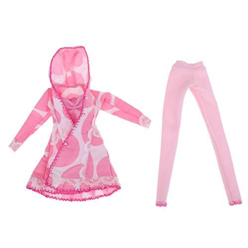 Baoblaze Dulce Kit de Pantalones Largos Rosa Abrigo de Viento DIY Accesorios...