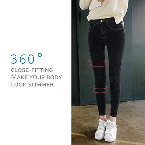 Calça Jeans Justa Justa Justa Estilo Coreano Estudantes Nove Pontos Feminina Cintura Alta Calça Longa Stretch Todos Combina