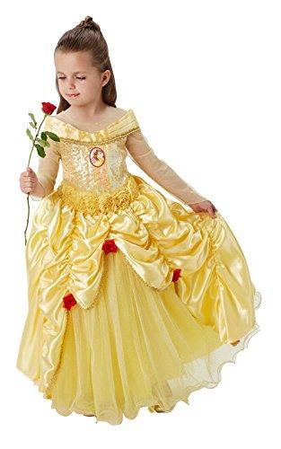 Princesas Disney - Disfraz de Bella Premium para niña, infantil 7-8 años (Rubie