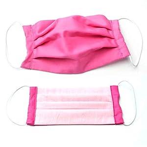 (Behelfs) Mundschutz Baumwolle, pink-rosa, waschbar bei 60 °, Handmade in Germany
