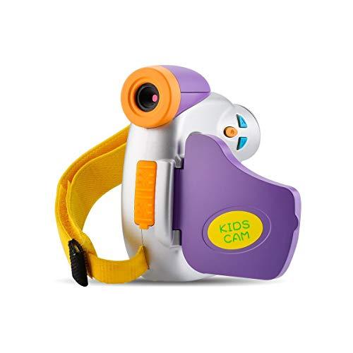 Cámara infantil 1080P Full HD 5 MP cámara para niños, regalo, cámara de juguete con divertido marco de fotos para niños de 3 a 9 años de edad