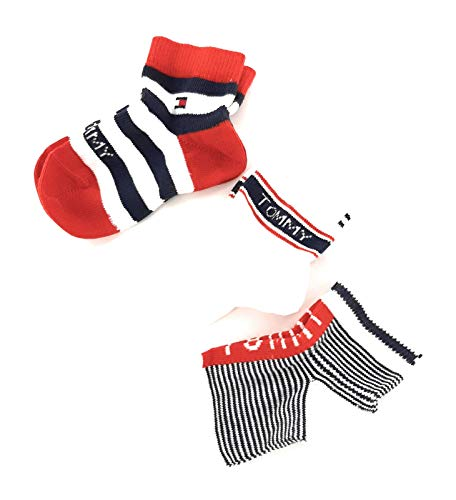 Tommy Hilfiger Baby Socks Giftbox (3 Pack) Calcetines, Marca: Tommy Original, 19/22 para Bebés