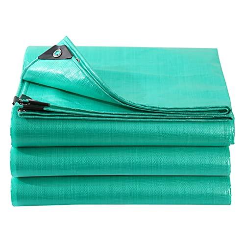 AWSAD Espesar Paño Impermeable Proteccion Solar Impermeable Lona De PE Prueba Lágrima con Ojal para Camión Depósito Patio, 22 Tamaños (Color : Green, Size : 2x2m)