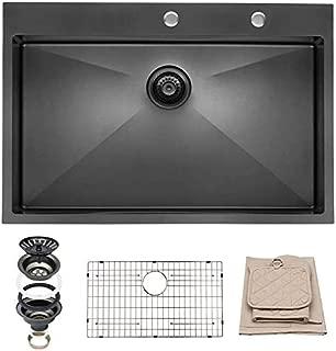 Best black stainless steel sink Reviews