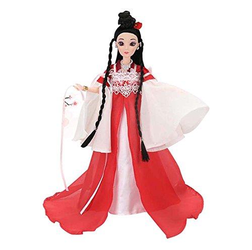 Black Temptation Mädchen Menschen Puppen alte chinesische Kleidung Prinzessin / Göttin Spielzeug Geschenk-rot