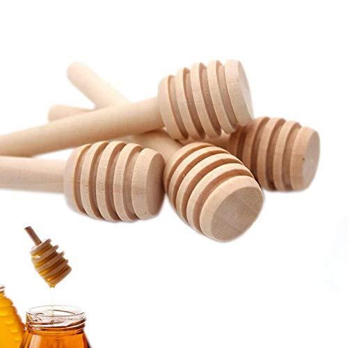 Lot de 50 mini cuillères à miel en bois pour cuisine et salle à manger 7,6 cm
