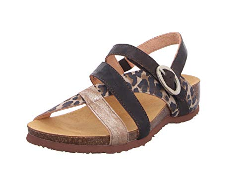 THINK! Damen Julia_3-000245 nachhaltige Slingback Sandale, 4000 PALLISANDRO/Kombi, 40 EU