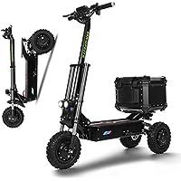 SSCJ Scooter eléctrico 3000W Potencia Alta Vespa Inteligente de Tres Rondas Plegable con 65-80 km de Largo Alcance Recargable Kick Scooters Velocidad máxima de 80 km/h