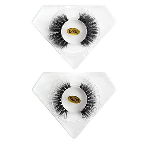IYU_Dsgirh 20 paires de vison 3D avec plusieurs longs cils souples, bouclés et déformés (black)