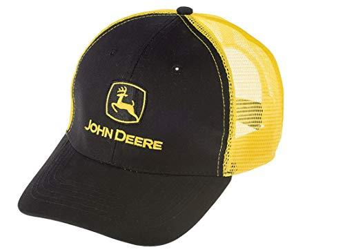 John Deere - Gorra de malla, color amarillo y negro