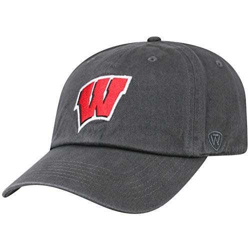 Top of the World Wisconsin Badgers Men's Hat Icon, Charcoal, Adjustable