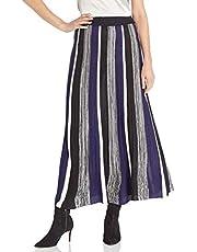 BB Dakota Women's Can't Knit with Us Striped Sweater Skirt