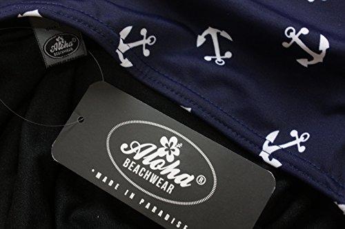 Aloha-Beachwear Damen Badeanzug A1010 Blau Gr. 38 - 3