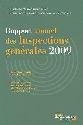 Rapport annuel des inspections générales 2009 - IGEN-IGAENR
