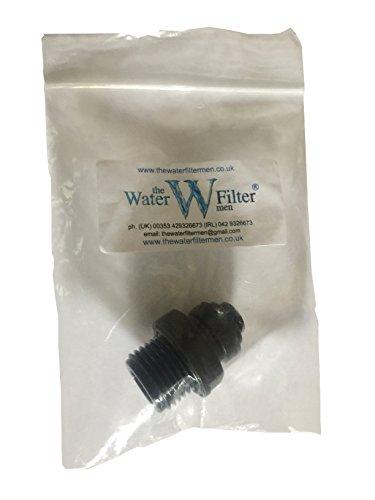 "8 mm Wasserfilter Rohrverschraubung Steckverbinder Steckverbinder 8 mm 6 mm 1/4 Zoll 1/2"" Adapter 1/2"" Thread x 8mm Pushfit Schwarz"